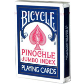 Фотография Карты Bicycle Pinochle Jumbo Index 44 (синие) [=city]